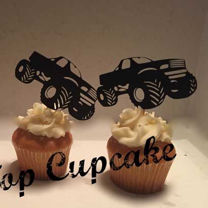 redneck cupcake toppers monster truck