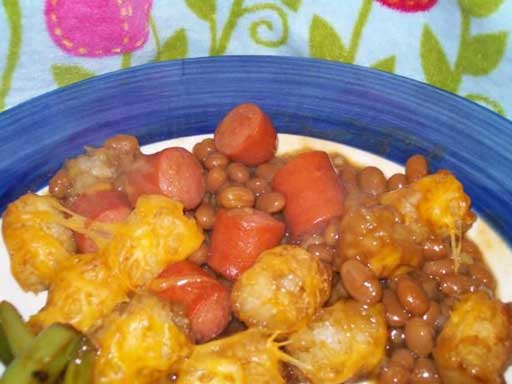 redneck party food tater tot casserole