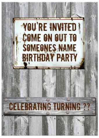 redneck party Invitation