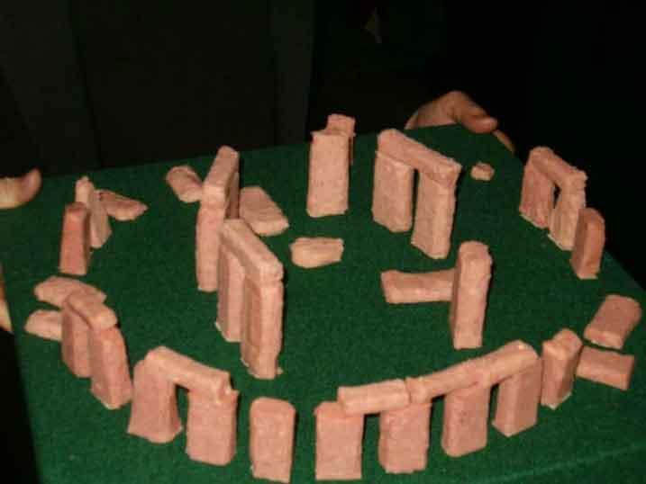redneck party games spam sculptures