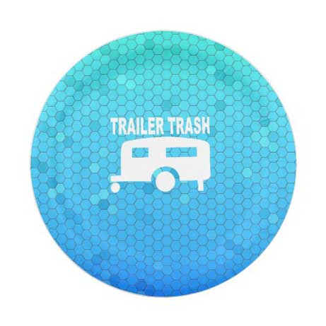 trailer trash party plates