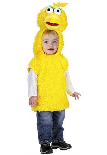 big bird kids costume