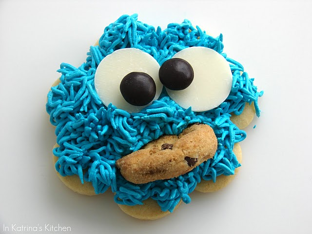 sesame street birthday party cookie monster cookie