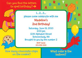 personalized sesame street invitations