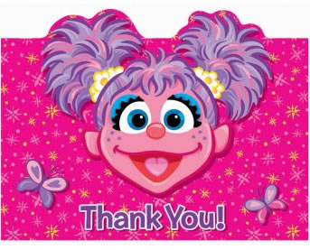 abby cadabby thank you notes
