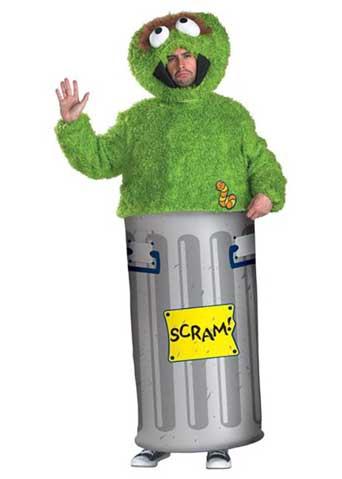 sesame street adult oscar costume