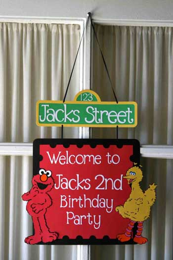 sesame street door sign