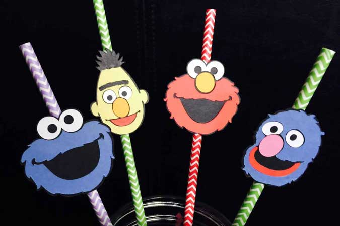 sesame street straws