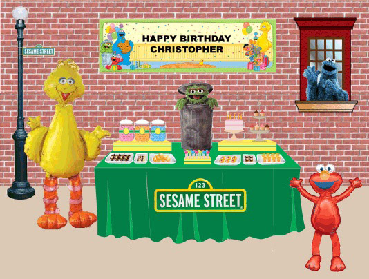 sesame street dessert table