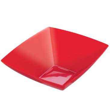 premium plastic bowls red