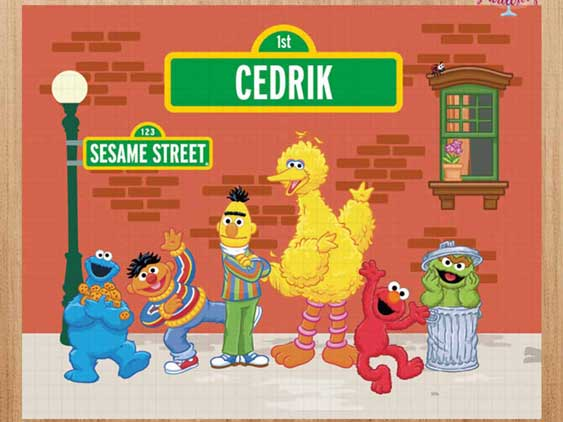 personalized sesame street backdrop