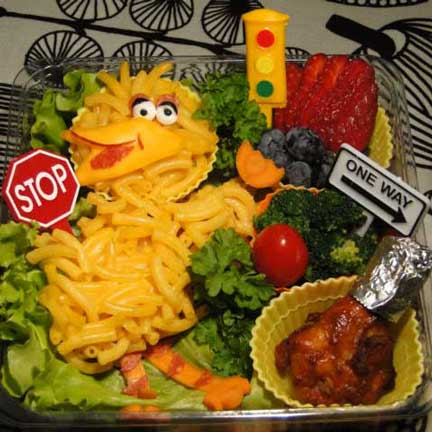 big bird mac and cheese