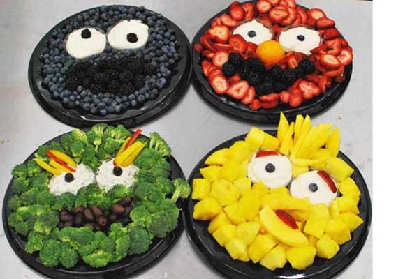 sesame street fruit platters