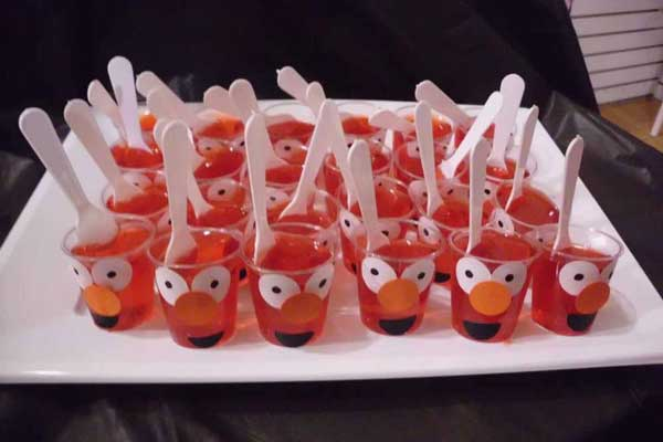 elmo jello cups