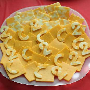 cheese letters and numbers