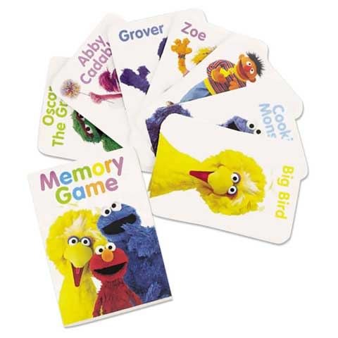 sesame street memory card game