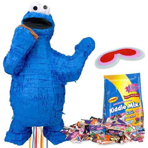 sesame street pinata cookie monster