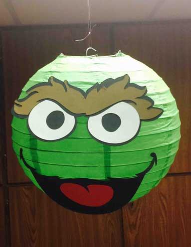 sesame street oscar paper lantern