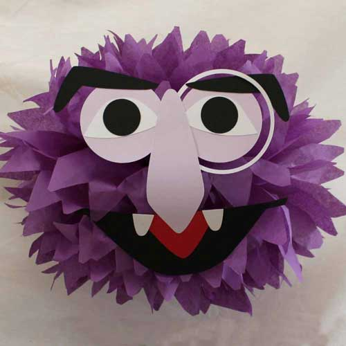 sesame street tissue poms the count