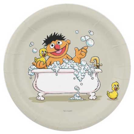 sesame street birthday party plates