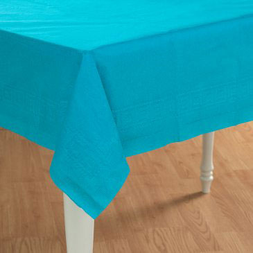 blue table cover