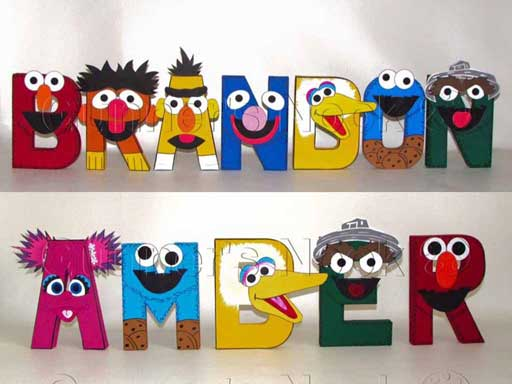 personalized sesame street letters