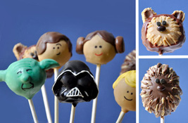star wars cake pops