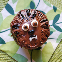 star wars birthday party chewbacca cupcakes