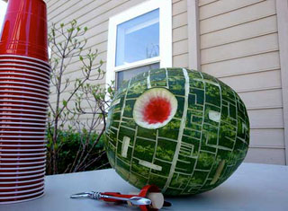 star wars birthday party deathstar watermelon
