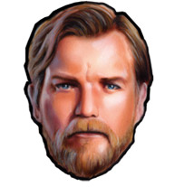 star wars birthday party obi wan mask