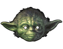 star wars birthday party yoda mask