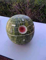 star wars birthday party watermelon death star