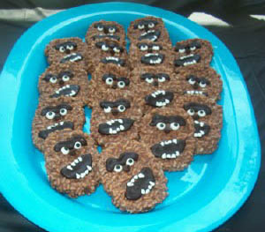 star wars birthday party wookie cookies
