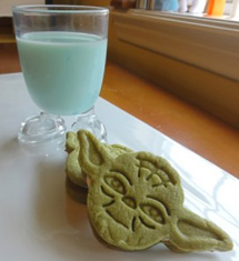 star wars birthday party yoda cookies