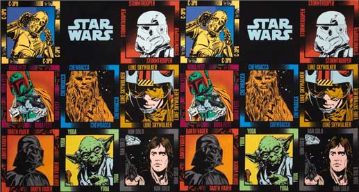 star wars fabric panel