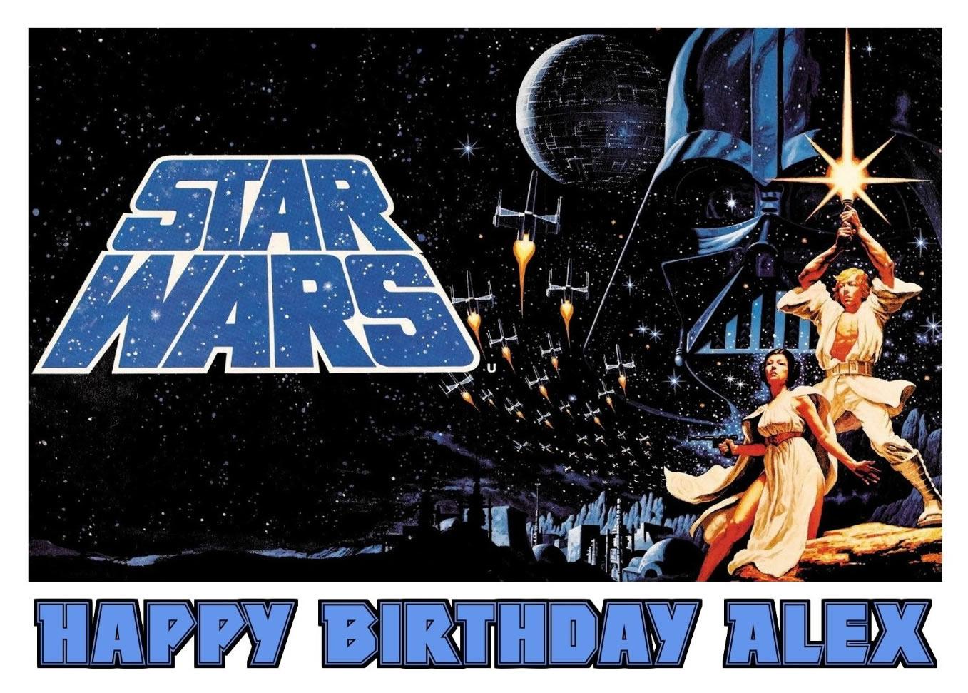 star wars edible cake image