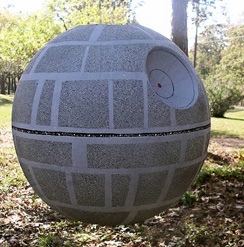 star wars party ideas paper mache deathstar