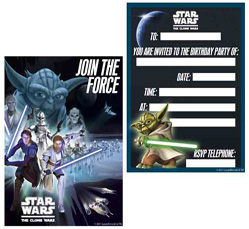 clone wars birthday invitations