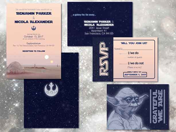 star wars wedding invitations