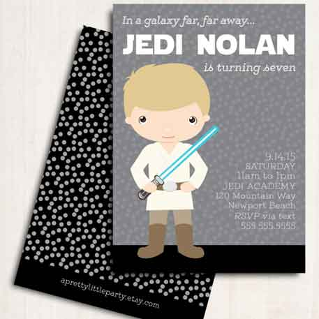star wars birthday invitations boys