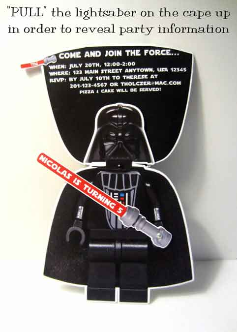 pop up star wars invitation