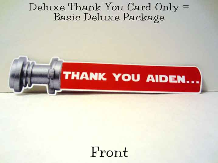 lightsaber thank you cards