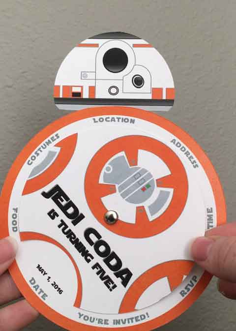 star wars bb8 invitation