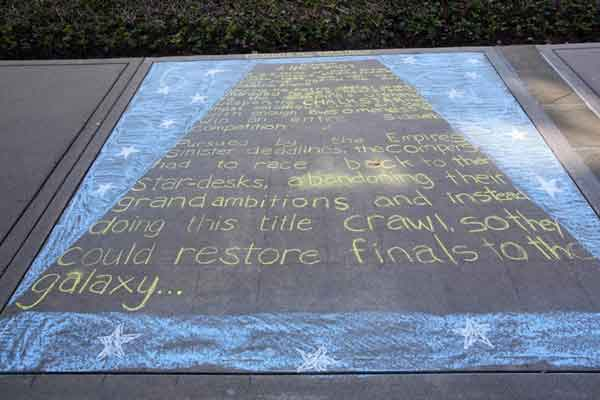 star wars opening crawl chalk pavement