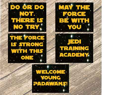Star Wars Printable Signs