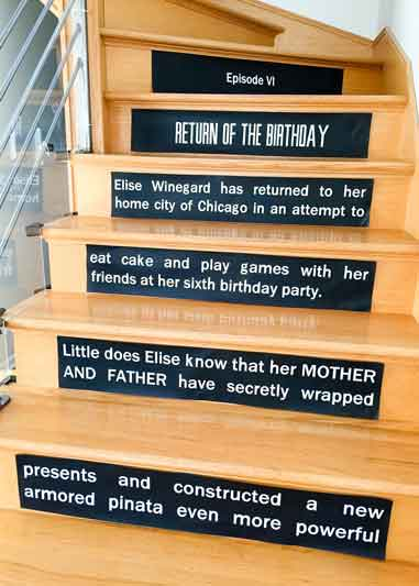 Star Wars opening crawl printable stair riser signs