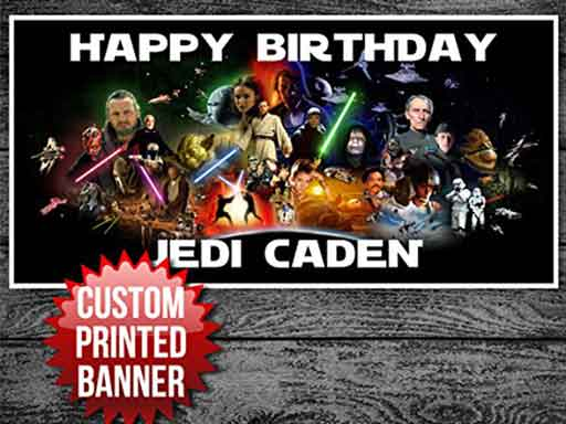 personalized Star Wars banners
