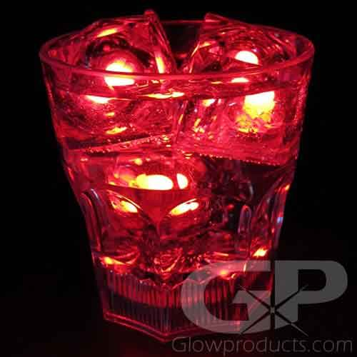 red flashing LED ice cubes