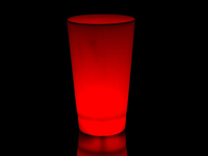 red LED glow cups