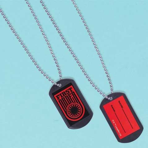 star wars party favors dog tags